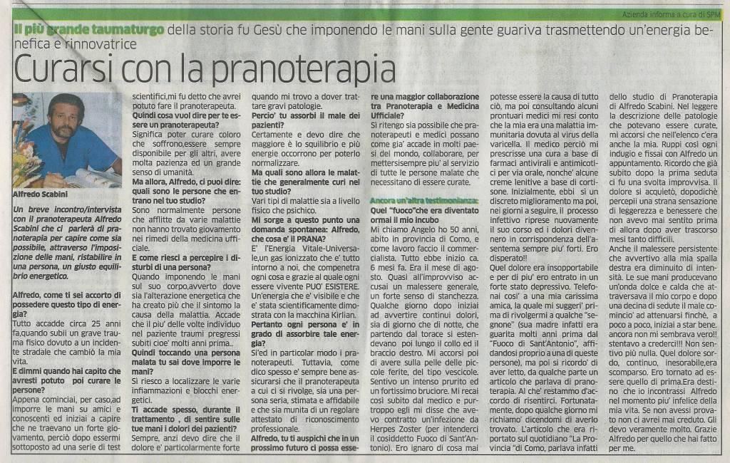 """""""La Provincia di Como, 28 Febbraio  2016"""""""