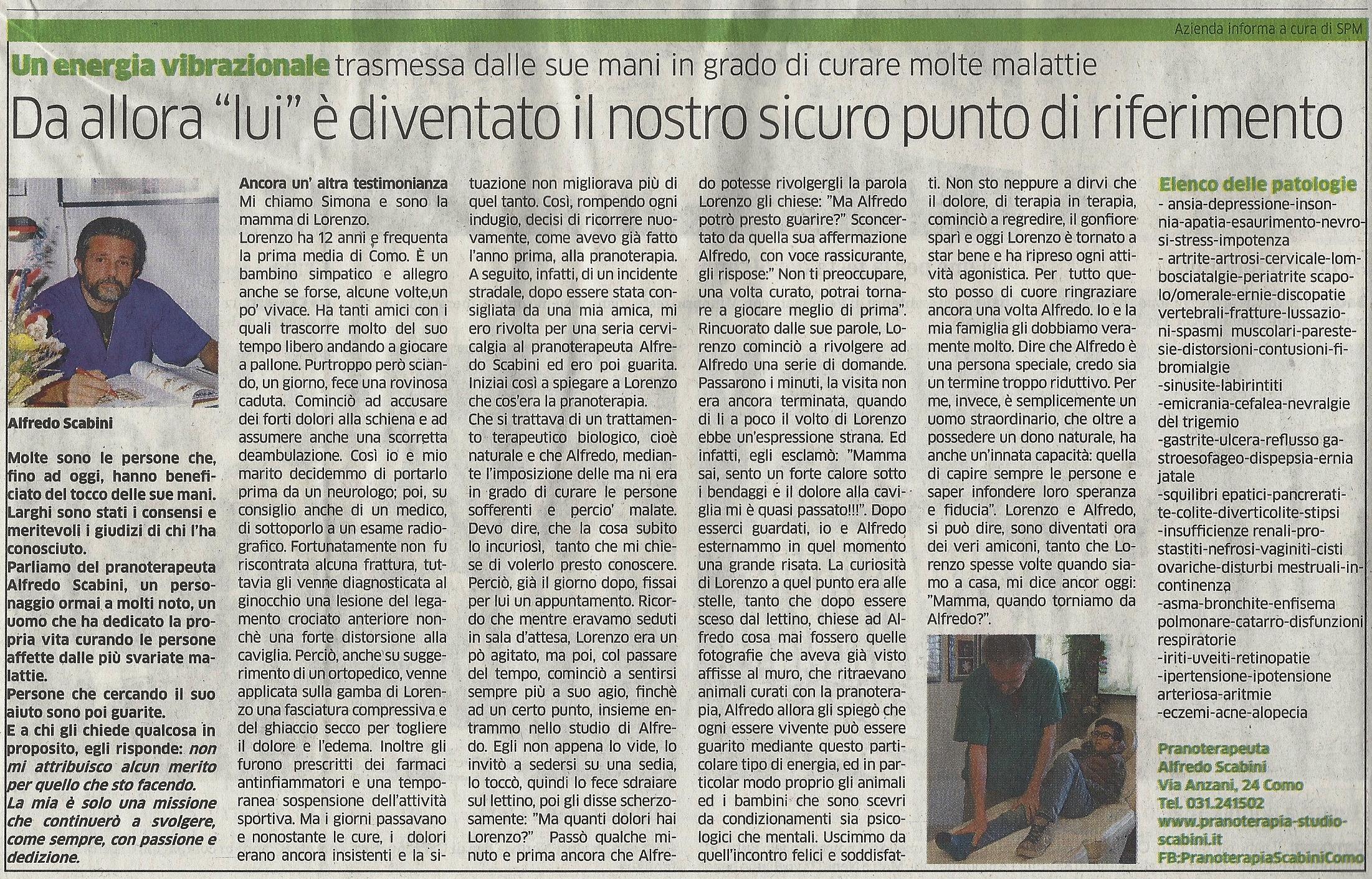 """""""La Provincia di Como, 1 Novembre 2015"""""""